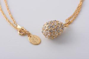 Golden Egg Pendant Necklace