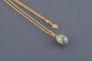 Turquoise Egg Pendant Necklace