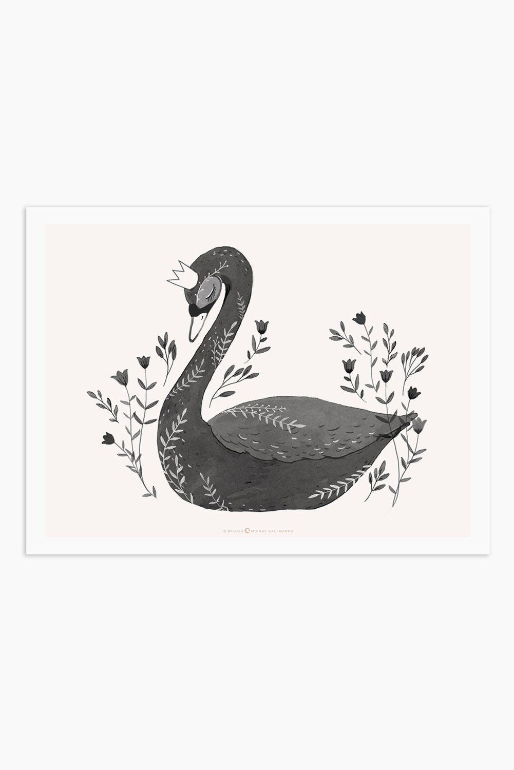 Art Print - Black Swan - Only available in Israel