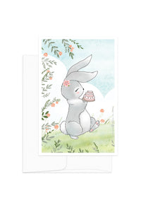 Card - Spring Animals - Bunny & Cake