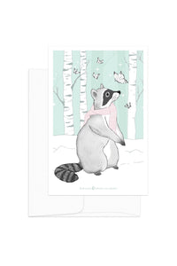 Card - Winter Animals - Raccoon