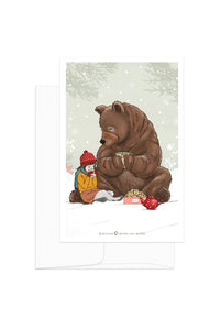 Card - Winter Kids - Girl and Bear