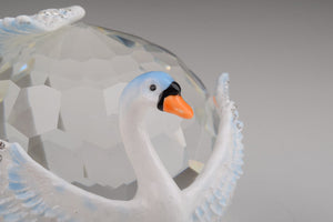 Two White Swans on Crystal Ball