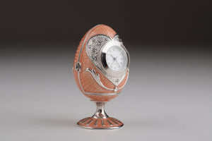 Pink Faberge Egg with Clock