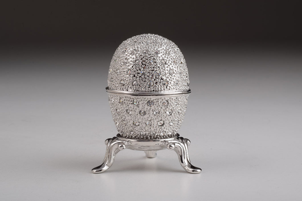 Silver Faberge Egg