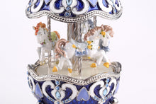 Blue Wind up Musical Carousel