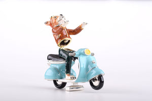 Dog on Vespa
