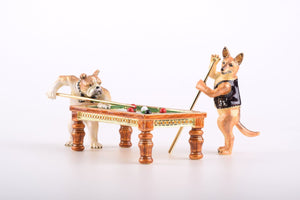 Dogs Playing Billiards