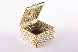 Gold Box with Pearls