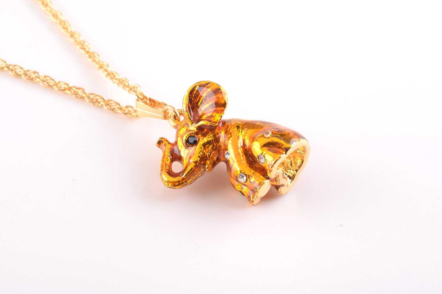 Gold Elephant Pendant Necklace