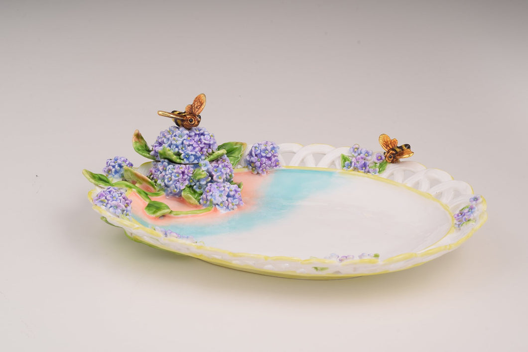 White Plate Decorated Trinket Box