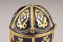 Black Faberge Egg with Clock
