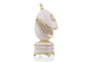 White Faberge Egg with Pearl