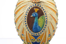 Colorful Peacock Faberge Egg
