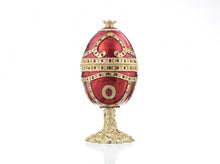 Red Faberge Egg with Heart Inside