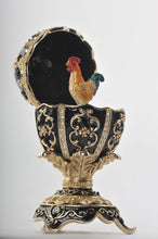 Black Faberge Egg with a Chicken Inside