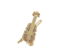 Purple Faberge Egg with Violin Inside