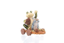 Frog and Squirrel on Wooden Car