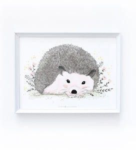 Art Print - Spring Hedgehog - Available Only In Israel!