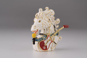 Horse Head with a Guitar