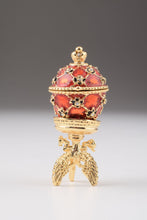 Red Faberge Egg with Car Inside