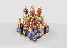 Blue Faberge Egg with Castle Inside