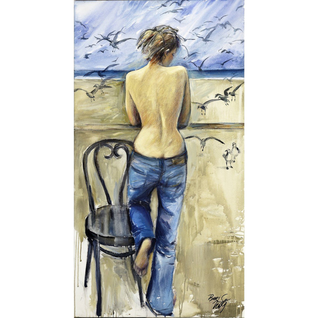 Shirtless Woman by the Sea by Boris Vinokurov