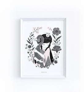 Art Print - Princess wish black swan