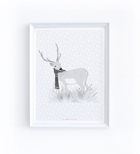 Art Print - Deer in the Rain - Available Only In Israel!