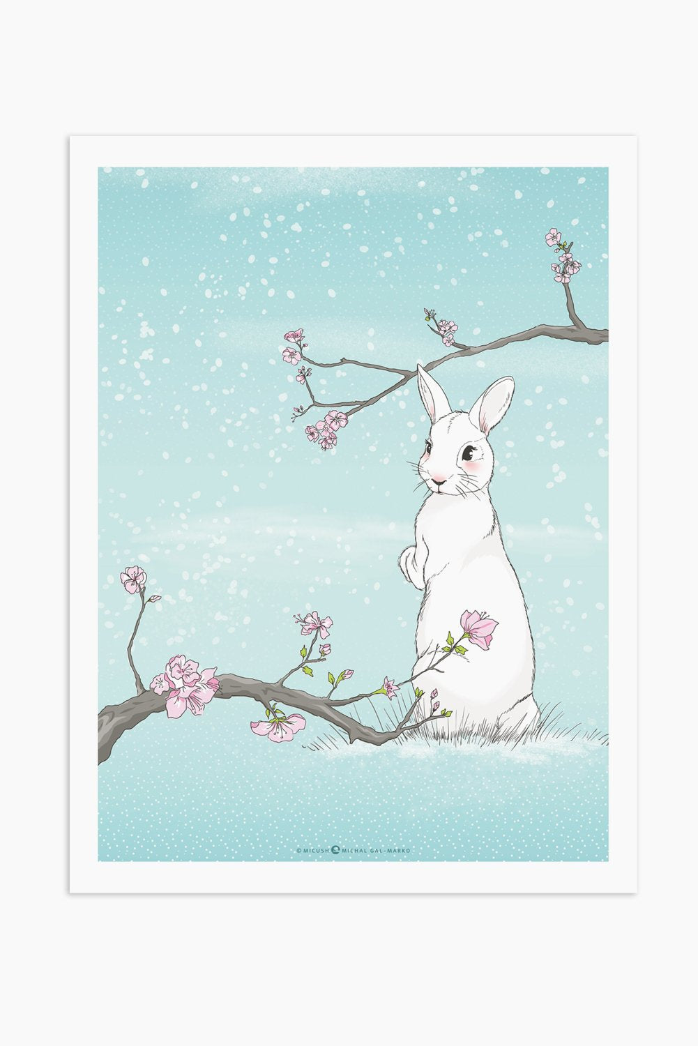 Art Print - Snow Rabbit