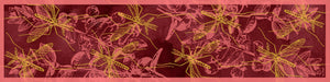 The Red Mosquito scarf silk rectangular yellow pink 45x180 full view