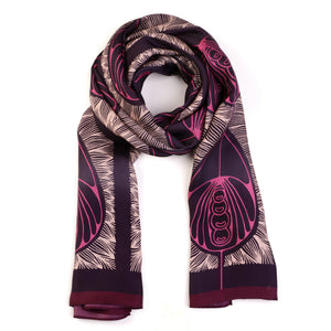The-Violet-Belle-Époque-Silk-Scarf-pink-rectangular-Tal Angel-65X220 cm-packshot