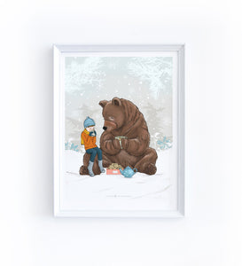 Art Print - Boy and Bear