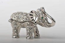 Silver Elephant with Green Eyes