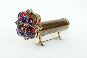 Super Giant Flower wheels Kaleidoscope, Brass Kaleidoscope, Wedding Gift, Gift ideas