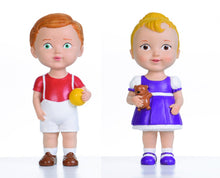 Brown Hair Boy & Blonde Hair Girl Dolls