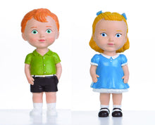 Red Hair Boy & Blonde Hair Girl Dolls