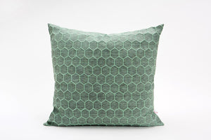 "Green and grey designer throw pillow cover 50x50 cm / 19.6x19.6"". Removable printed pillow cover. Nature inspired cushion cover. Atay Pillow"