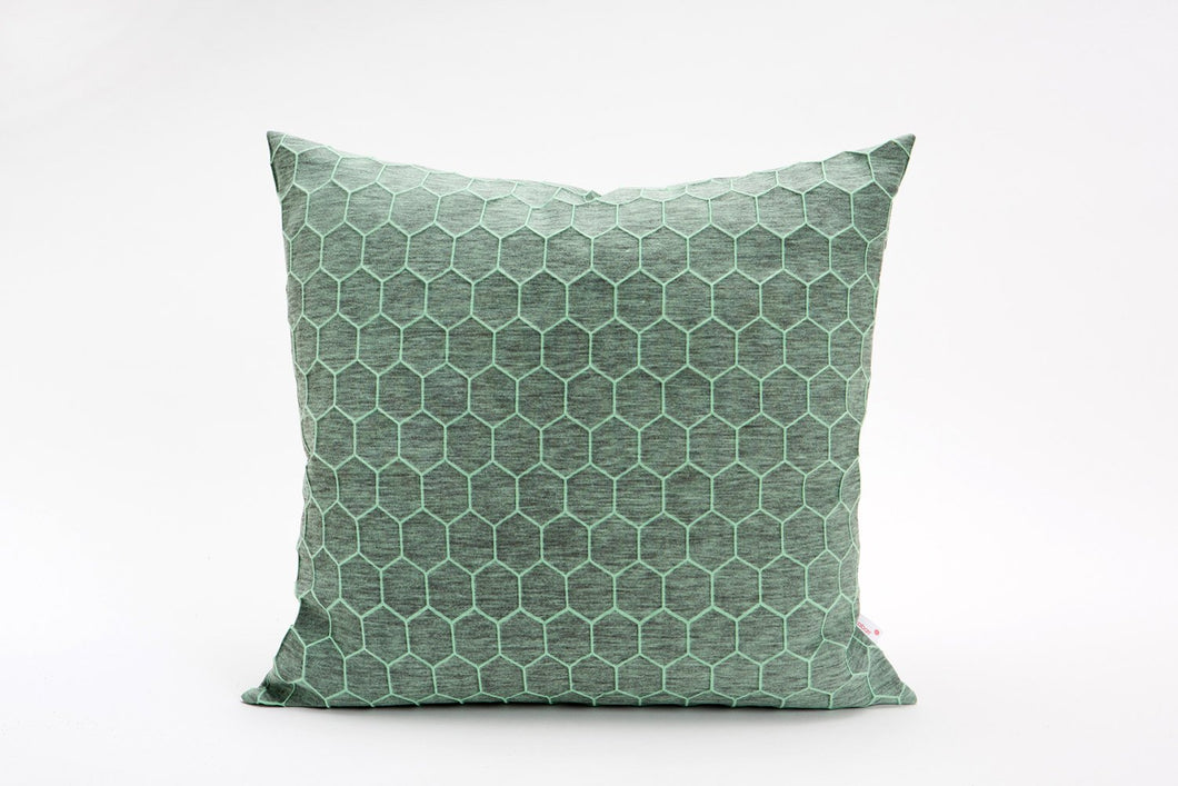 Green and grey designer throw pillow cover 50x50 cm / 19.6x19.6