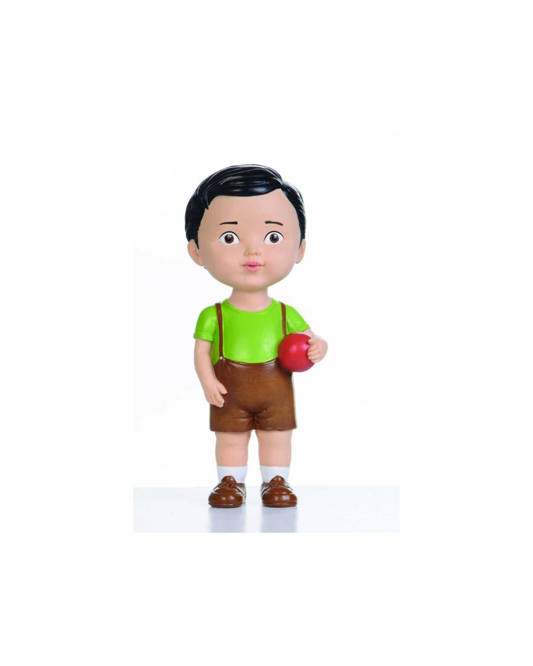 Black Hair Boy with Ball Doll
