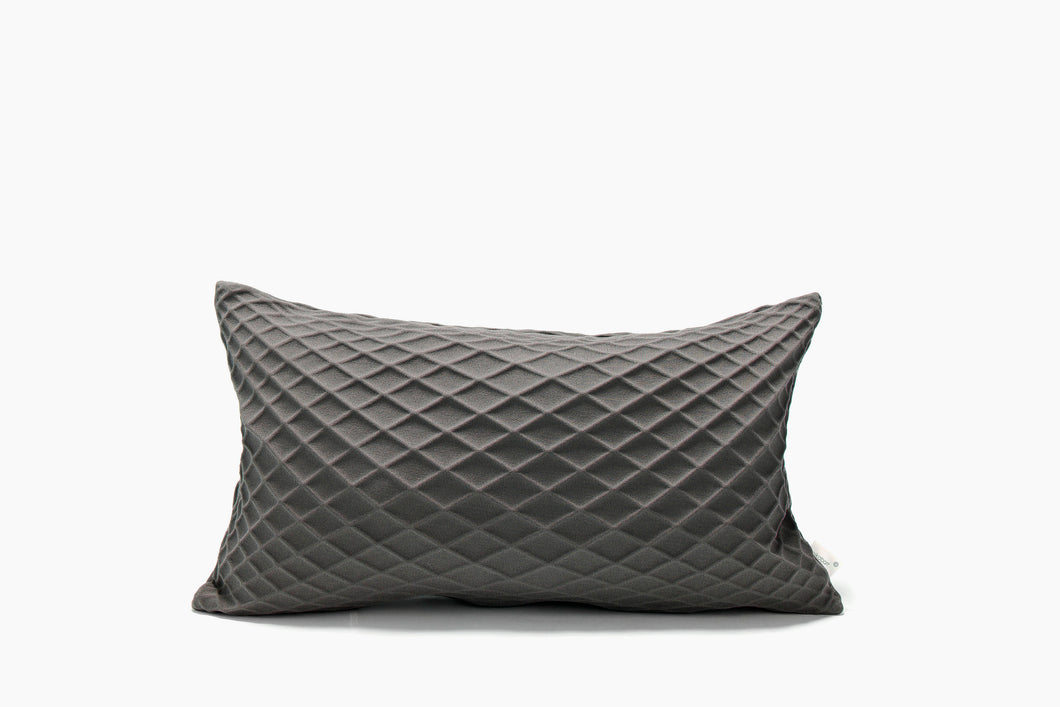 Grey pillow cover, 19.6X11.8 inch, Geometry inspired cushion, Modern home decor accessory, Japanese inspired cushion cover, Rotem
