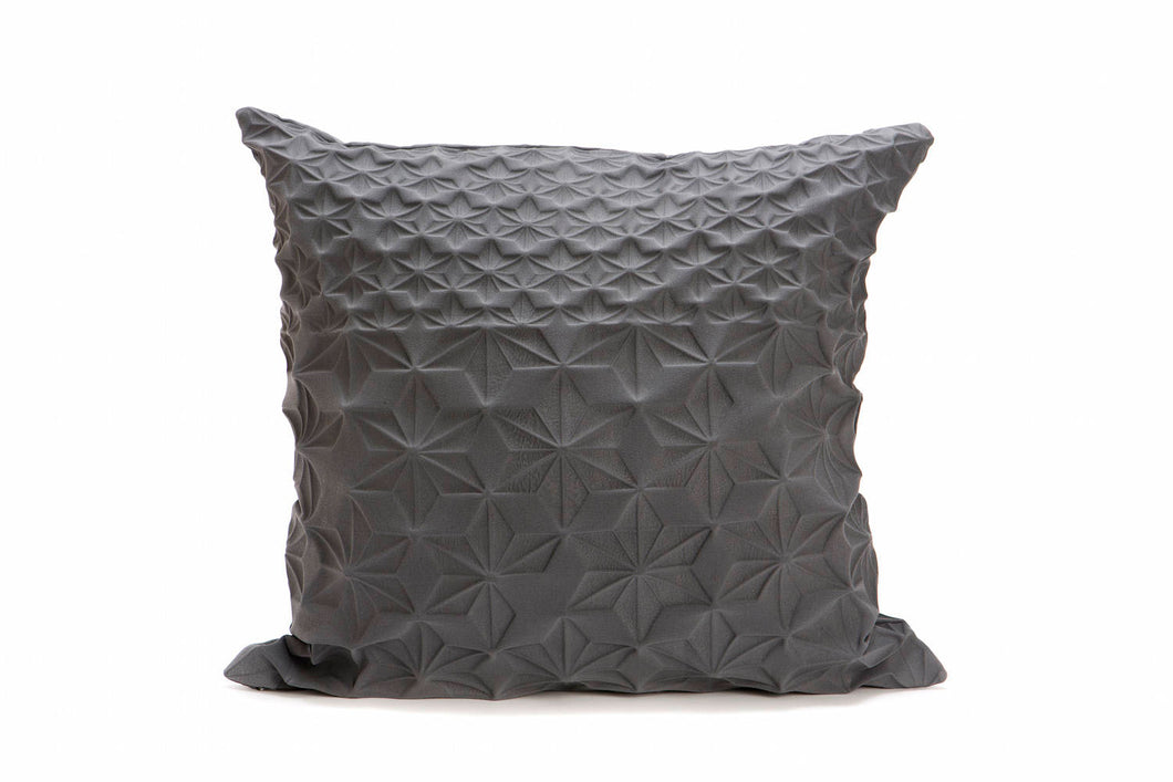 Grey geometric pillow cover 60x60 cm, 23.6 inch, Special textured cushion, Home decor accessory, patterned cushion cover, Amit pillow