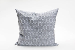 "Grey designer throw pillow cover 50x50 cm / 19.6x19.6"". Removable printed pillow cover. Nature inspired cushion cover. Atay Pillow"