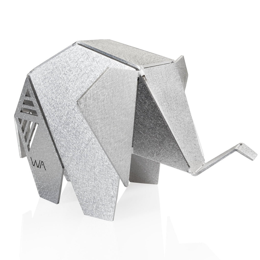 Lucky Elephant - origami souvenir. Origami Sculpture. Metal home decor. Gifts for New Homes. Geometric Style
