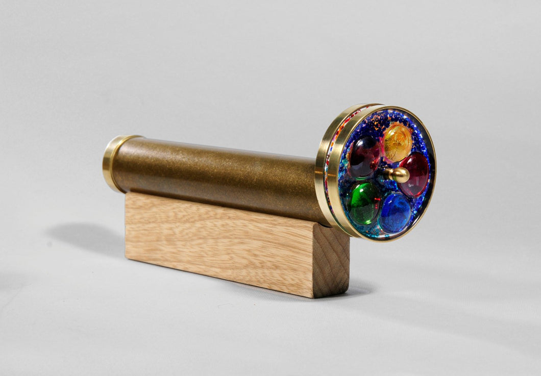 Medium Wheels Kaleidoscope, Brass Kaleidoscope, Gift Idea