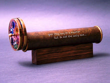 Long Teleidoscope, Gold brass teleidoscope, Steampunk, fathers day gift idea