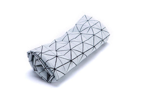 Black and white origami geometric pillow cover 30X60 cm, 11.8X23.6 inch, Printed folding cushion Home decor accessory, Geo pillow