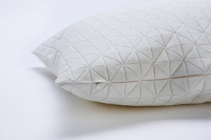 White origami geometric pillow cover 50x50 cm, 19.5X19.5 inch, Printed pillow cover Home decor accessory, Geo pillow