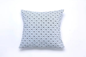 Black and white origami geometric pillow cover 50x50 cm, 19.5X19.5 inch, Printed folding cushion Home decor accessory, Geo pillow