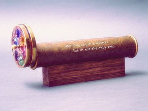 Long Oil Kaleidoscope, Gold Brass Kaleidoscope, Father's day Gift, Christmas gift Idea